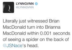 """""""Brianna MacDonald"""" hahahah // Lynn Gunn tweet"""