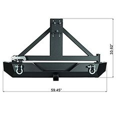 Paramount Restyling Black Rear Heavy Duty Rock Crawler Bumper with Tire Carrier (Jeep Wrangler YJ/TJ) Jeep Tj, 2006 Jeep Wrangler, Jeep Willys, Jeep Bumpers, Bmw Wallpapers, Jeep Patriot, Suzuki Jimny, Jeep Models, Off Road