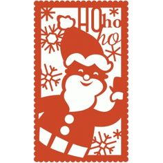 Silhouette Design Store - View Design #51517: santa holiday rectangle