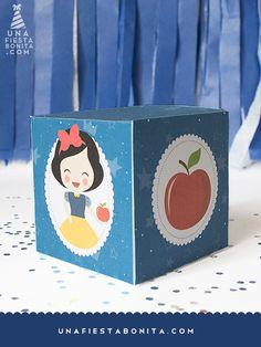 imprimible plantilla caja cubo- Blancanieves