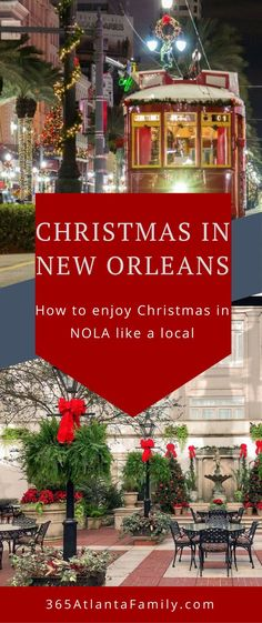 Have you ever considered spending Christmas in New Orleans? Our family is headin. Christmas Travel, Christmas Vacation, Holiday Travel, Christmas Time, Christmas Scenes, Winter Travel, Visit New Orleans, New Orleans Travel, Holiday Lights