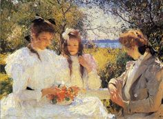 Portrait of my daughters by Frank Weston Benson