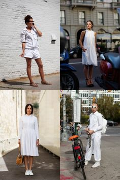"The Sartorialist ""If your thinking about all white""  Because, Scott, you know I always am!"