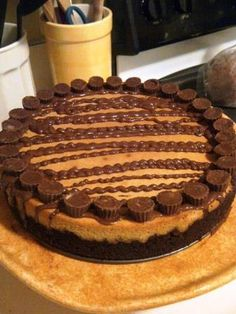 Peanut Butter Cheesecake with Chocolate Crust (from scratch) via sarahbellafoodblog