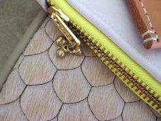 Collection // Leather [pouch, clutch, ipad case, bag, cuff, wallet, hide, natural, soft, neutral, neon, gold, brass, fashion, accessories] Kaleidoscope Blog