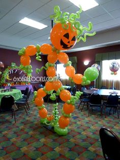 Halloween and balloons go together like pumpkin and spice go with lattes! Your guests will break their favorite social media channels with pictures of your event when you choose us to decorate your… Halloween Balloons, Halloween Party, Custom Balloons, Balloon Decorations, Art Decor, Sculptures, Make It Yourself, Carnival, Costume