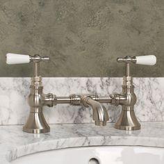 Monroe Bridge Lavatory Faucet with Porcelain Lever Handles 175-191.00