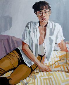 "Saatchi Art Artist Erin Fitzpatrick; Painting, ""Pam"" #art"