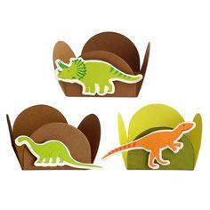 Forminha 4 Pétalas Dinossauros (24uni) - Papel Confeito