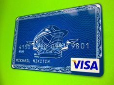 Russia Visa Transcapital Bank credit card, Light Blue train in Collectables, Other Collectables | eBay!