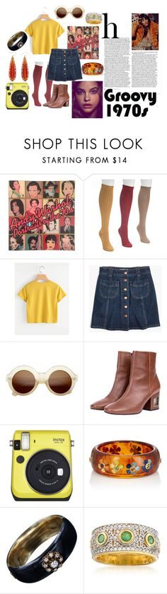 """""""70s vibes"""" by jadtaf on Polyvore featuring Andy Warhol, Muk Luks, Madewell, ZeroUV, Fuji, Mark Davis and Ross-Simons"""