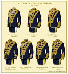 British; Hussar Officers' Uniforms 1893-1902 More British Army Uniform, British Uniforms, Military Dresses, Military Uniforms, Military Clothing, Bengal Lancer, Tinker Tailor Soldier Spy, Indian Army, S Pic