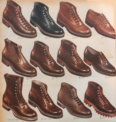 1955 men's work boots and shoes