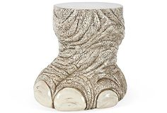 $499 OKL 1960s Elephant Foot Ceramic Side Table