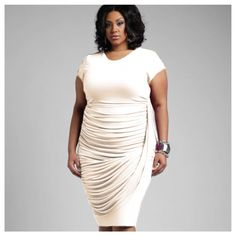 This is our Flow dress in the color Ivory. Check it out now online at www.shavonnedorsey.com