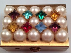 DEADSTOCK 1950s Vintage Jeweled PILLBOX by rememberwhenemporium, $18.00