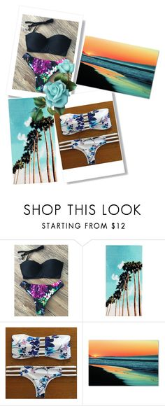 """""""Beach hair don't really care"""" by annawell-1 ❤ liked on Polyvore featuring PBteen and Trademark Fine Art"""