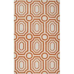 Surya HDP2009-810 Hudson Park 8' x 10' Rectangle Synthetic Hand Tufted Geometric - Orange