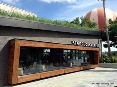 News and Photo Tour! Starbucks at Downtown Disney's West Side Is Now Open food menu – Dinner Food Kiosk Design, Facade Design, Store Design, Exterior Design, House Design, Cafe Exterior, Restaurant Exterior, Restaurant Interior Design, Downtown Disney