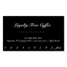Loyalty Coffee PunchCard Business Card Coffee Punch Business - Coffee business card template free