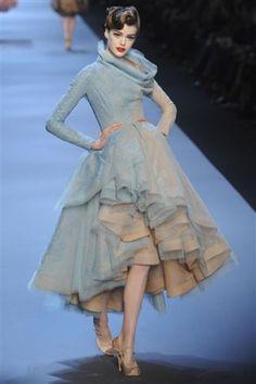 Christian Dior Haute Couture Spring 2011: Galliano's Tribute to Fashion Illustrator René Gruau - Fashionista