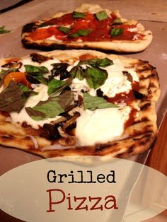 Grilling pizza might be tricky but it's SO worth it!   Fit Bottomed Eats