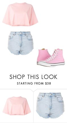 """Untitled #380"" by thenerdyfairy on Polyvore featuring Puma, Topshop and Converse"