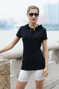 Knitted Bamboo Dress with Hood and Short Sleeves Clothing Company, Summer Wear, Short Sleeves, Leggings, Hoodies, Bamboo, T Shirt, How To Wear, Clothes