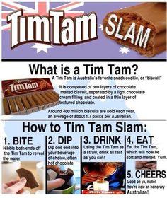 Tim Tam Slam - Delicious with coffee Yum! Chocolate Malt, Chocolate Cream, Good Food, Yummy Food, Tasty, Fun Food, Tim Tam Cake, Australia Day, Australia Facts