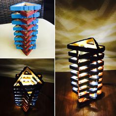 Hand made table lamp.(LED)  6.5 inches tall and 3.5 inches wide