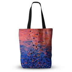 """Ebi Emporium """"What Goes Up"""" Blue Pink Everything Tote Bag"""