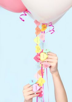 DIY Conversation Heart Balloon String (+ Partnership With Silhouette America!)