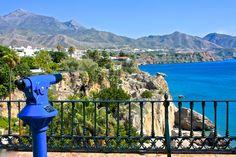 Views from the Balcon de Europa, Nerja Nerja, Places To Visit, Mountains, Nature, Travel, Europe, Naturaleza, Viajes, Trips