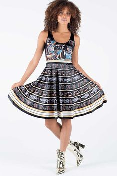 Tutankhamun Hunting Reversible Longline Dress – 7 DAY UNLIMITED ($99AUD) by BlackMilk Clothing