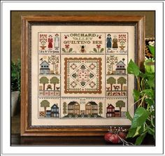 Little House Needleworks - Orchard Valley Quilting Bee - I can see it on my wall already!