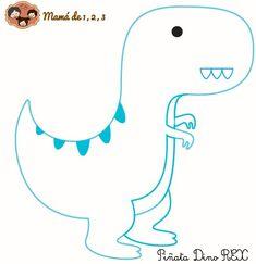 Estas animada en hacer tu propia piñata de Dinosaurio, pues te animo, aquí te dejo el molde de la figura que elegí, moldePiñata Una vez que tienes impresa las 5 hojas, corta y pega cada hoja de man…