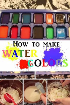 DIY Water Colors: Turn your Kid's Creativity into Splendid Splashes of Colors - http://www.thebudgetdiet.com/diy-water-colors-turn-your-kids-creativity-into-splendid-splashes-of-colors?utm_content=snap_default&utm_medium=social&utm_source=Pinterest.com&utm_campaign=snap