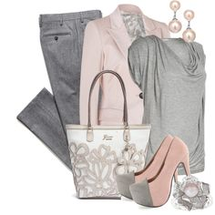 """pink pearls"" by sagramora on Polyvore"