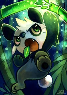 """Kalos Pokemon: Pancham.  Named my Pancham """"Chang Bang"""" .  This is in reference to the Chinese river (and motorcycle) the """"Chang Jiang"""".  Pandas are from China, so it fits.  A friend of mine said that the names sounds too much like """"gang-bang"""" :( Remember it is a FIGHTING type, so that is where the BANG comes from."""