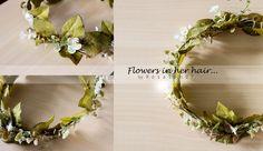 Flowers in her hair...(◡‿◡❀) #4  by me! ❤❃❂❁❀✽✼✻  #flowers #crown