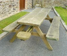 MASSIVE gorgeous UK grown and British manufactured Whole Tree Picnic Bench! http://www.sustainable-furniture.co.uk/picnic-benches-and-picnic-tables/massive-whole-tree-picnic-bench/prod_269.html