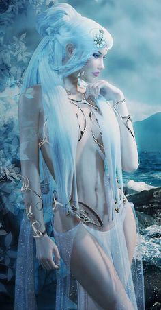 """Arianna Soleado v.2"" (Detail) by (Erynn83) | #Fantasy #RPG #Nymph #Water #3DArt #AGPin8000"