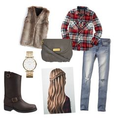 """""""Fall"""" by fashionkid-1 on Polyvore featuring Abercrombie & Fitch, Chicwish and Marc by Marc Jacobs"""