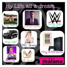"""my life as a dream"" by alexisotey14 ❤ liked on Polyvore featuring CENA, WWE, Massimo Matteo and Sony"