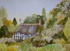 Watercolour cottage,