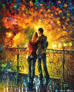 Leonid Afremov -  LAST DATE — PALETTE KNIFE Oil Painting On Canvas By Leonid Afremov