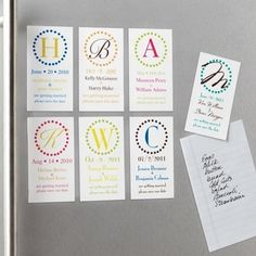Circle Initial Save the Date Wedding Magnet in 20th Anniversary from Exclusively Weddings