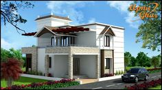 A beautiful Duplex House Design with 4 Bedroom in 225 sq mt area (15m X 15m).  View the Floor Plan here: http://www.apnaghar.co.in/house-design-437.aspx  Call Toll-Free No.- 1800-102-9440 Email: support@apnaghar.co.in