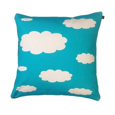 A beautifully handmade digital print cushion from HomeCrush. Bring the outdoors in with this quirky Cloud Print cushion Quality duck feather inner supplied Cotton fabric with a black baby cord reverse and zipper. Machine washable at low temperature Size 40cm x 40cm
