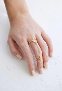 Katie Dean Double Diamond Ring
